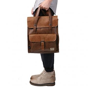 Dokin Retro Vintage Leder-Rucksack