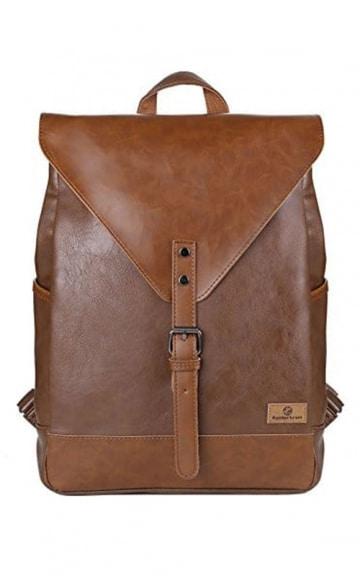 Koolertron Vintage Leder Rucksack, Braun
