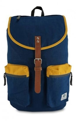 Ridgebake Kay Navy & Sunflower Rucksack Canvas, Blau
