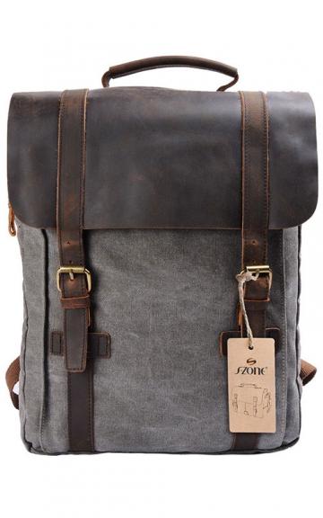 S-ZONE Vintage Rucksack, Grau