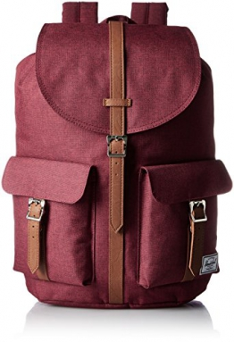 Herschel Dawson Backpack, Winetasting Crosshatch/Tan Pebbled Leather