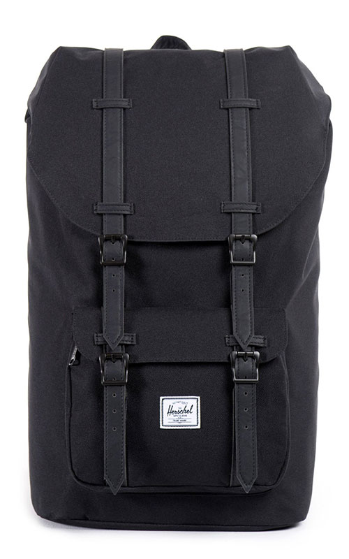 herschel little america backpack black black vintage. Black Bedroom Furniture Sets. Home Design Ideas