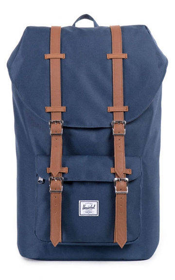 Herschel Little America Backpack, Navy/Tan