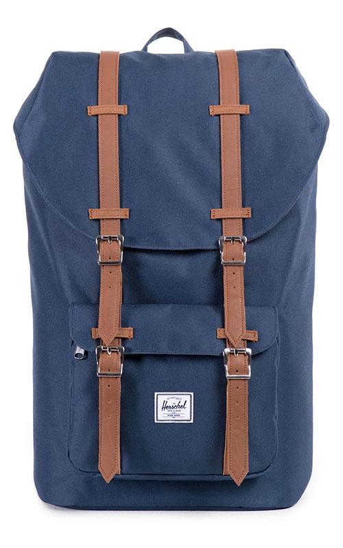 herschel little america backpack navy tan vintage. Black Bedroom Furniture Sets. Home Design Ideas