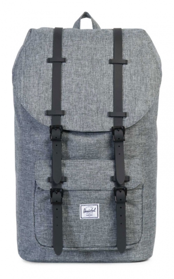 Herschel Little America Backpack, Raven Crosshatch/Black Rubber