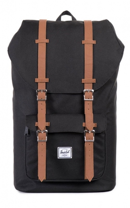 Herschel Little America Backpack, Schwarz / Tan