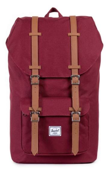 Herschel Little America Backpack, Windsor Wine/Tan