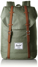 Herschel Retreat Backpack, Deep Litchen Green/Tan