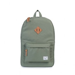 Herschel Heritage Backpack, Deep Litchen Green/Tan
