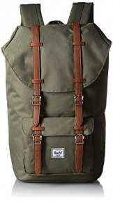 Herschel Little America Backpack, Deep Litchen Green/Tan