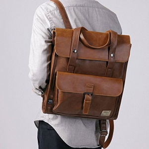 Leder Rucksack im Vintage Style