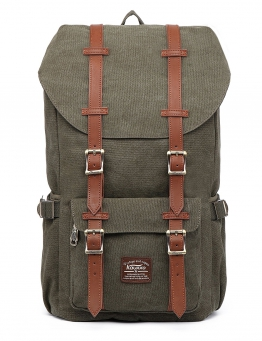 Kaukko Canvas Rucksack Army Green