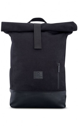 Johnny Urban Roll Top Ruckack, Schwarz