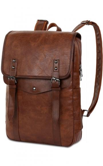Vbiger Vintage Schulrucksack aus Leder